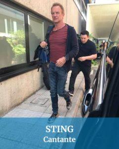 Abbiamo guidato anche per Sting cantante