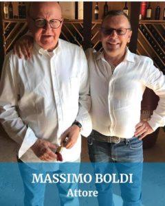 Abbiamo guidato anche per Massimo Boldi