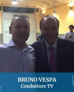 Abbiamo guidato anche per Bruno Vespa conduttore