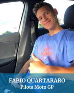 Abbiamo guidato anche per Fabio Quartararo pilota moto gp
