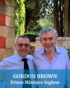 Gordon Brown Primo Ministro Inglese